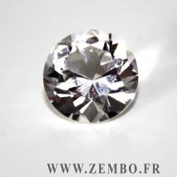 cristal de roche taille brillant rond 4.85 carats