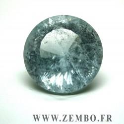 topaze bleue naturelle taille brillant rond 51.20 carats