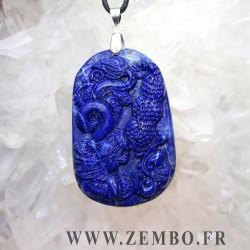 pendentif dragon en lapis lazuli